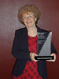 Barbro Ehrenberg Sundin, first winner of the Mowat Award, presented in Stockholm, Sweden in 2011