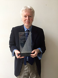 Martin Cutts, second winner of the Mowat Award, presented in Vancouver, Canada in 2013