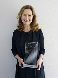 Lynda Harris, third winner of the Mowat Award, presented in Dublin, Ireland in 2015.