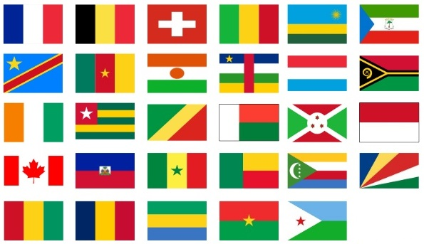 Flags of French speaking countries