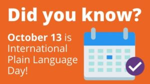 October 13 is International Plain Language Day